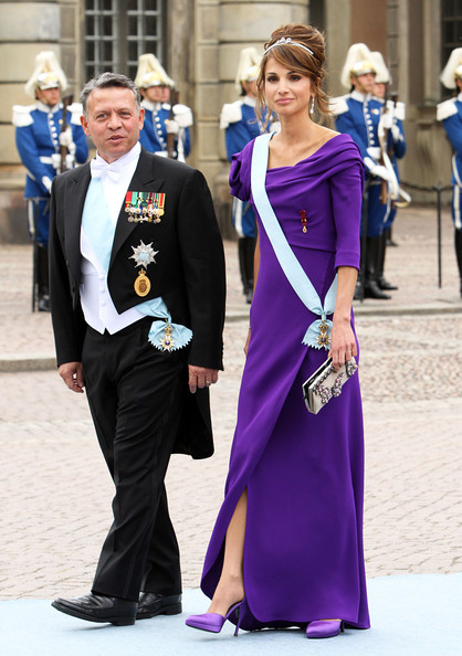 Queen Rania Royal guests head over to the Stockholm Cathedral for the nuptials of Princess Victoria of Sweden and Daniel Westling.