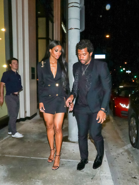 Ciara And Russell Wilson Outside Catch Restaurant In West Hollywood []