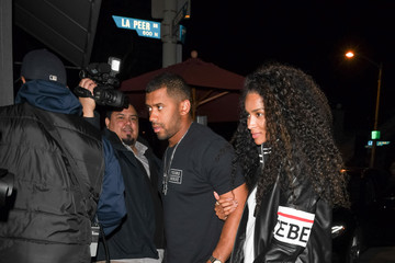 Russell Wilson Ciara And Russell Wilson Outside Craig's Restaurant In West Hollywood