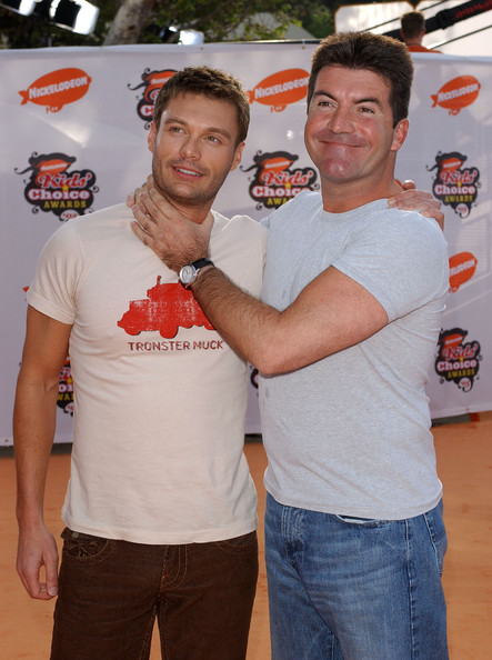 Photo of Ryan Seacrest & his friend, tv-personality  Simon Cowell