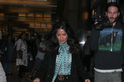 Salma Hayek Takes a Flight at LAX