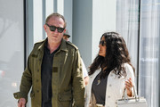 Salma Hayek and her husband, Francois-Henri Pinault are seen in Los Angeles, California.