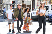 Salma Hayek, her husband, Francois-Henri Pinault and Pinault's children, Augustin and Mathilde are seen in Los Angeles, California.