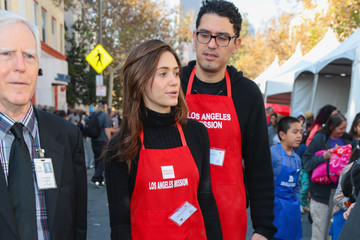 Sam Esmail Celebrities Are Seen at LA Mission Thanksgiving Dinner for the Homeless