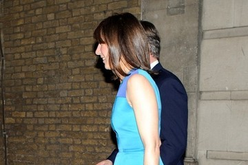 Samantha Cameron Guests Leave the Conservative Party Black and White Ball