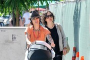Sara Gilbert and Family Out and About