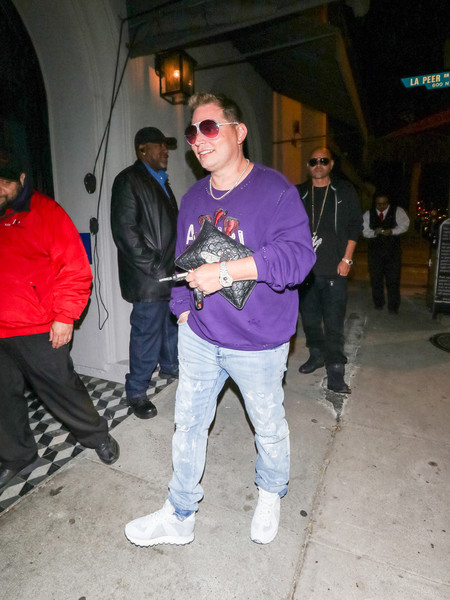 Scott Storch Is Seen At Craig's Restaurant In West Hollywood