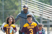 Seal Goes to a Soccer Match With His Kids