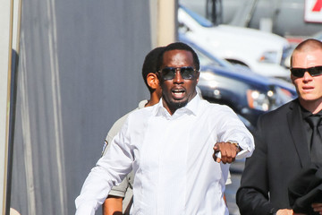 Sean Combs Sean Combs Enters The 'Jimmy Kimmel Live' Studio