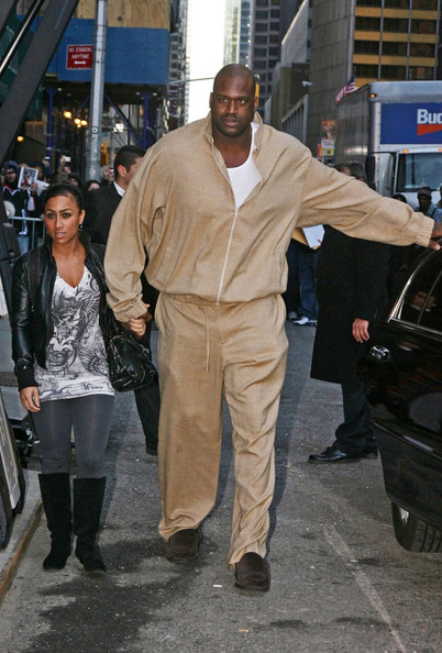 Something is. Shaq and his girlfriend commit