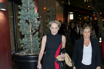 Sharon Stone Celebrities at the Hilary Clinton Rally at Avalon Nightclub