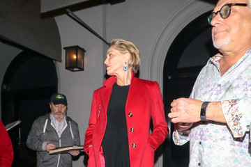 Sharon Stone Sharon Stone Outside Craig's Restaurant In West Hollywood
