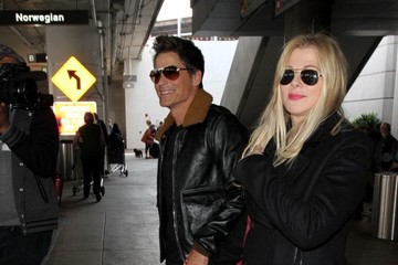 Sheryl Berkoff Rob Lowe and Sheryl Berkoff at LAX