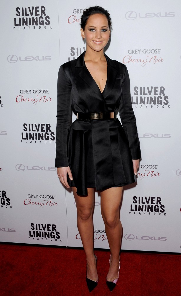 "Premiere Screening of ""Silver Linings Playbook""..The Academy, Beverly Hills, CA..November 19, 2012..Job: 121119A3..(Photo by Axelle Woussen)..Pictured: Jennifer Lawrence."