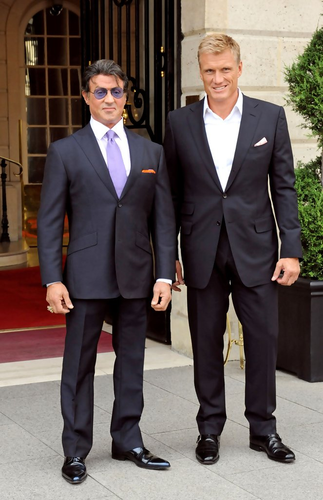 ¿Cuánto mide Sylvester Stallone? - Real height Sly+and+Dolph+suit+up+oRlWg6jEeKTx