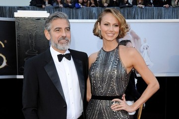 Stacy Keibler George Clooney Arrivals at the 85th Annual Academy Awards