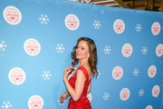 Rachel Boston is seen attending the opening night celebration of the Life-Sized Gingerbread House Experience at The Grove with the Stars of Lifetime's Christmas Movies in Los Angeles, California.