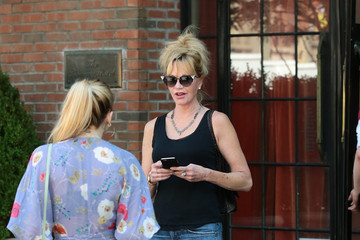 Stella Banderas Melanie Griffith and Daughter Stella in New York