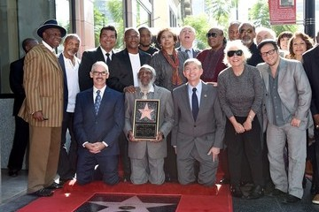 Stevie Wonder Dick Gregory Honored on the Walk of Fame