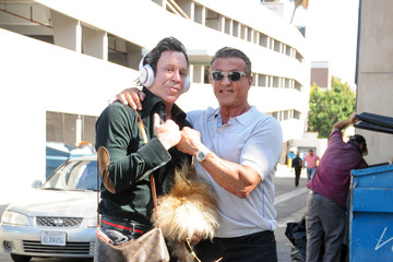 Sylvester Stallone Mickey Rourke and Sylvester Stallone Hang Out