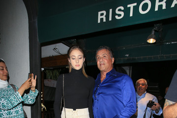 Sylvester Stallone Scarlet Stallone Sylvester Stallone Is Seen Out With His Daughter