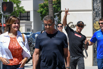 Sylvester Stallone Sylvester Stallone Hits The Streets Of LA