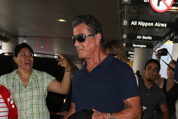 Sylvester Stallone Sylvester Stallone and Jennifer Flavin are Seen at LAX