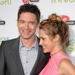 Topher Grace and Teresa Palmer