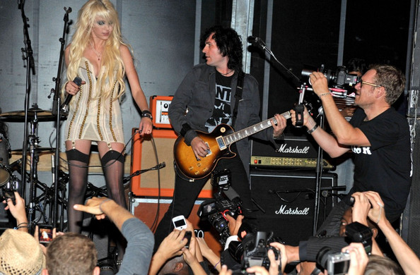 "Taylor Momsen Taylor Momsen performs with her band The Pretty Reckless at Laperouse for the launch party for John Galliano's new fragrance ""Parlez Moi d'Amour.""."