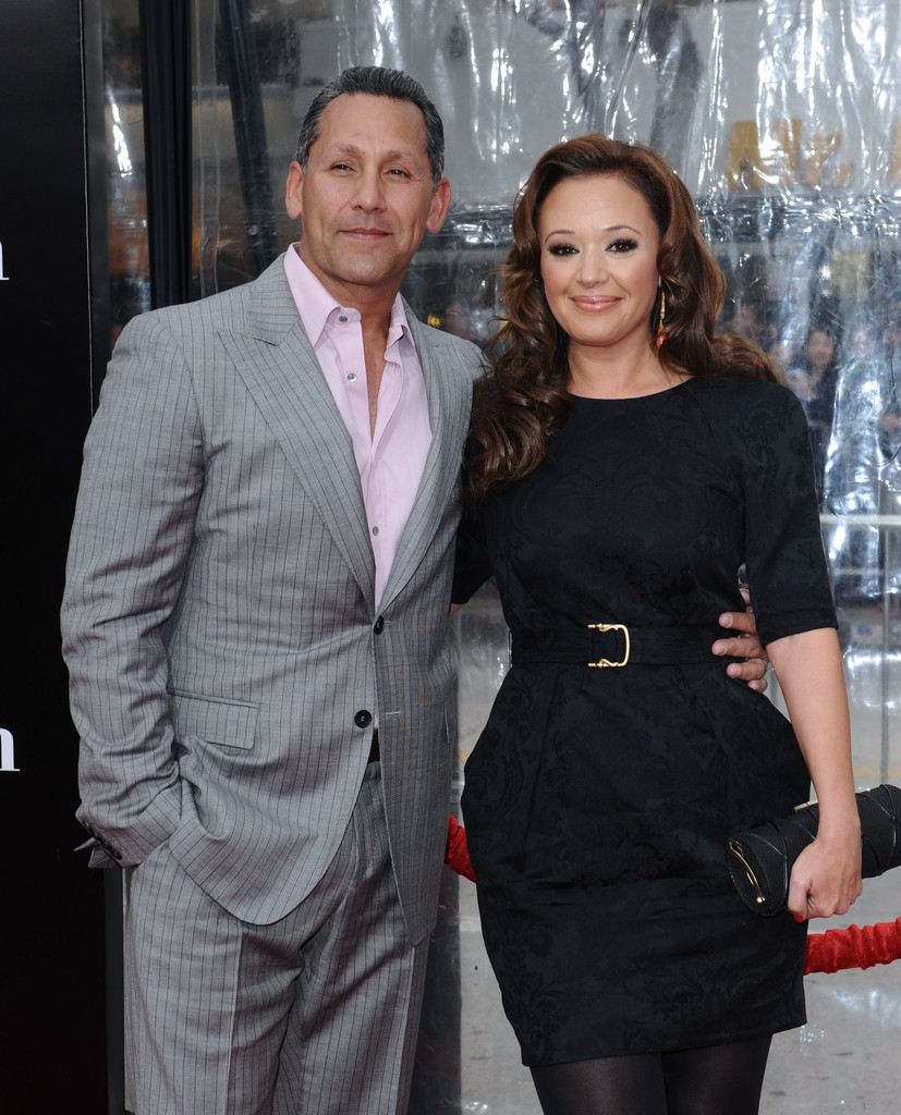 Leah Remini with her husband Angelo Pagan in a event, Zimbio