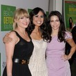 She gets dressed up with Kimberly Snyder and Jenna Dewan.