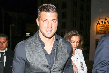 Tim Tebow Demi-Leigh Nel-Peters Tim Tebow And Demi-Leigh Nel-Peters Outside Egyptian Theatre In Hollywood
