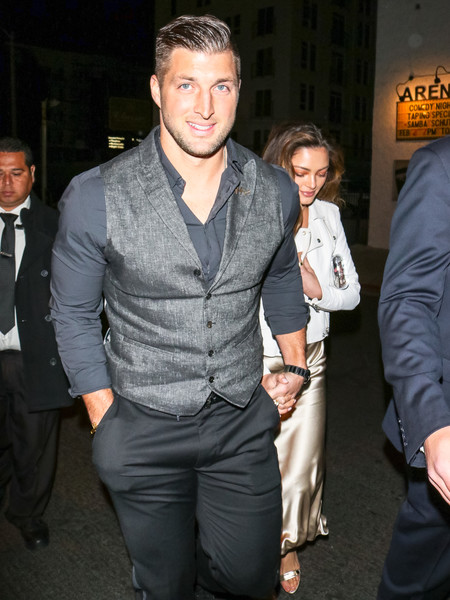 Tim Tebow And Demi-Leigh Nel-Peters Outside Egyptian Theatre In Hollywood