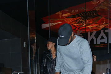 Tim Witherspoon Celebrities Are Seen at Katsuya Restaurant