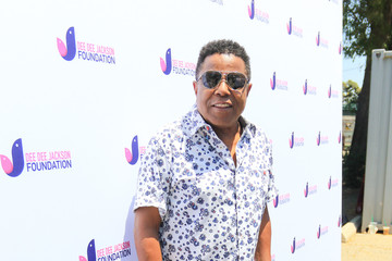 Tito Jackson Dee Dee Jackson At The Celebrity Softball game In Encino