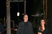 Tom Arnold Outside Ahrya Fine Arts Theater In Beverly Hills