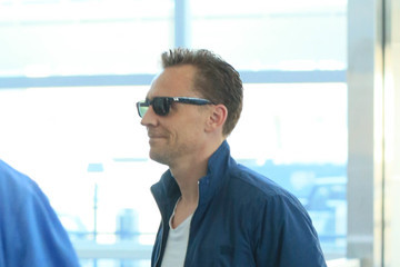 Tom Hiddleston Tom Hiddleston Is Seen at JFK