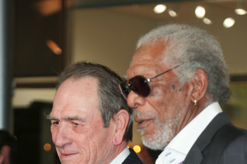Tommy Lee Jones Tommy Lee Jones and Morgan Freeman Outside ArcLight Theatre in Hollywood