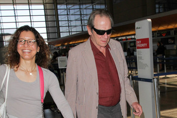 Tommy Lee Jones Tommy Lee Jones and Dawn Laurel Jones Are Seen at LAX