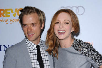 Jayma Mays Adam Campbell Celebs at the 'Trevor Live' Benefit in LA