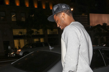 Trey Songz Trey Songz Leaves Katsuya Restaurant