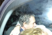 Trinny Woodall and Charles Saatchi head out for a meal together at Scott's London.