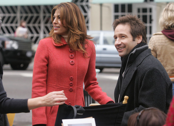 She makes movies with David Duchovny.