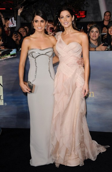 """World Premiere of """"The Twilight Saga: Breaking Dawn - Part 2""""..Nokia Theatre L.A. Live, Los Angeles, CA..November 12, 2012..Job: 121112A1..(Photo by Axelle Woussen)..Pictured: Ashley Greene and Nikki Reed."""