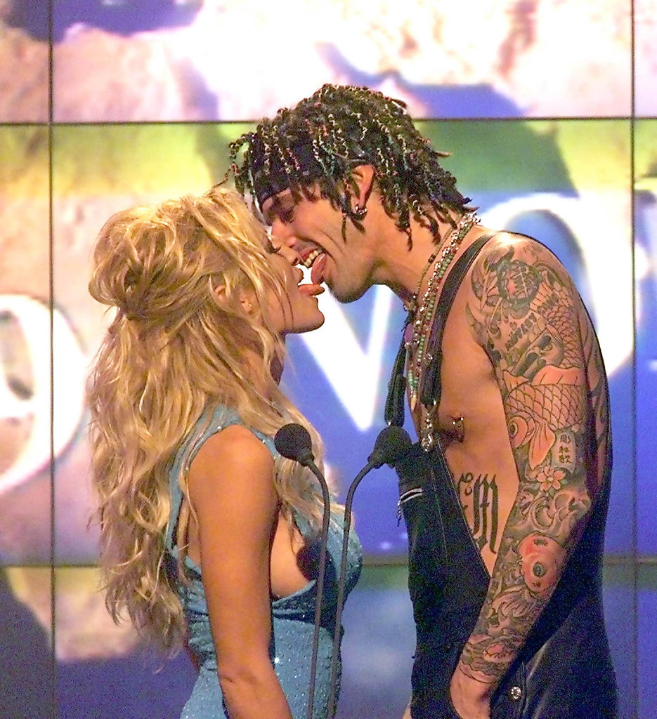 Pamela anderson tommy lee wedding bands - Pamela Anderson Tommy Lee Celebs Who Have Tattoos In Honor Of Their Lovers Zimbio
