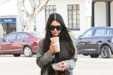 Vanessa Hudgens Vanessa Hudgens Grabs Coffee in LA