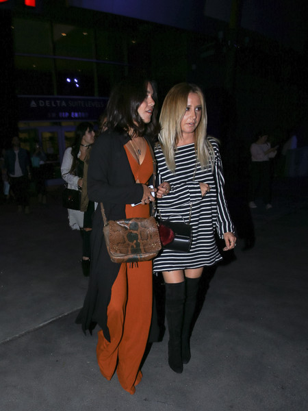 Vanessa Hudgens and Ashley Tisdale at STAPLES Center