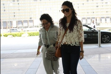 Vanessa Hudgens Vanessa Hudgens and Mother Out in Beverly Hills