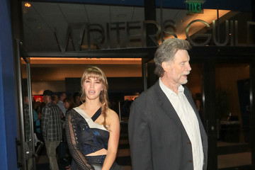 Vernon Wells Rachel Faulkner And Vernon Wells Outside The Writer's Guild Theatre In Beverly Hills