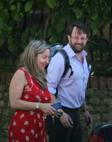 David Mitchell And Victoria Coren Out For A Walk